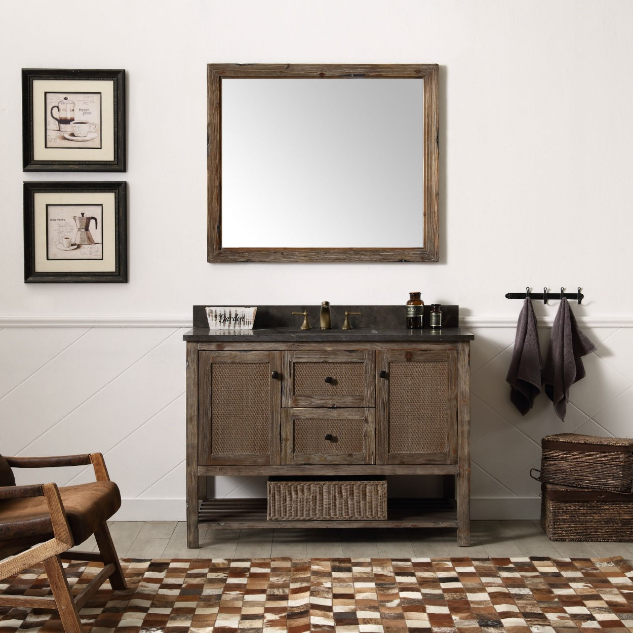 Legion Furniture WH5148-BR Single Bathroom Vanity