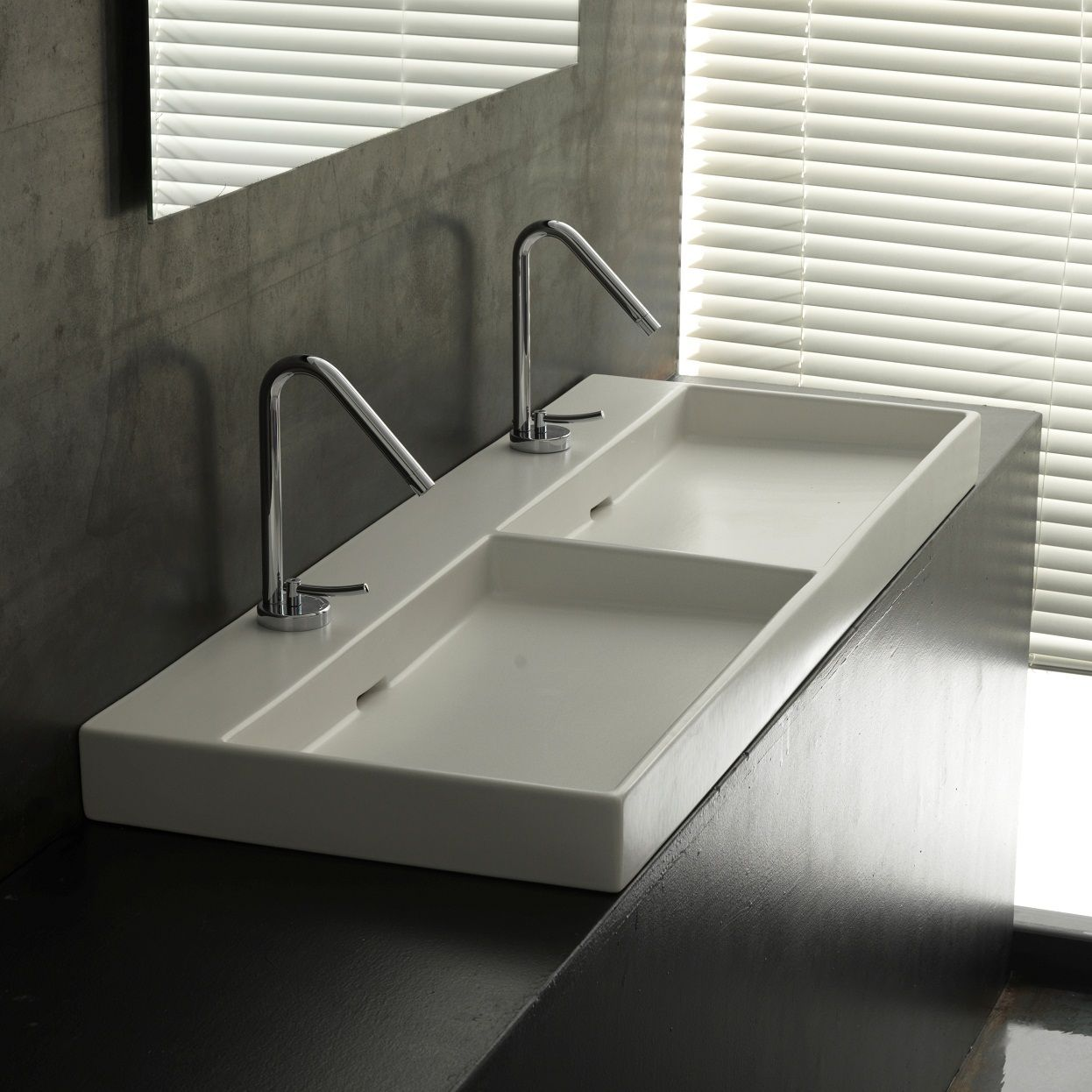 Clean the Area Thoroughly - Double Bathroom Sink